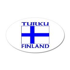 Turku, Finland 20x12 Oval Wall Peel