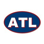 Atlanta, Georgia 20x12 Oval Wall Peel