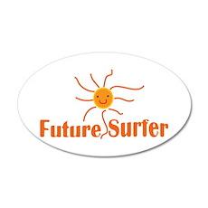 Baby Surf 20x12 Oval Wall Peel