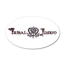 Tribal Fusion Logo 20x12 Oval Wall Peel