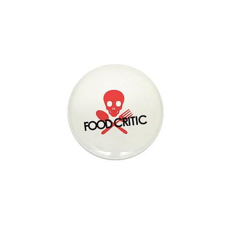 Warning! Food Critic Mini Button