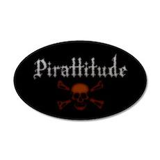 Pirate Attitude Pirattitude 20x12 Oval Wall Peel