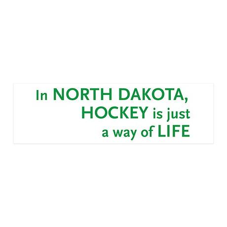 North Dakota Hockey 20x6 Wall Peel