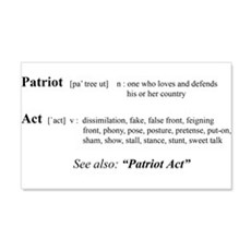 Patriot Act Defined 20x12 Wall Peel