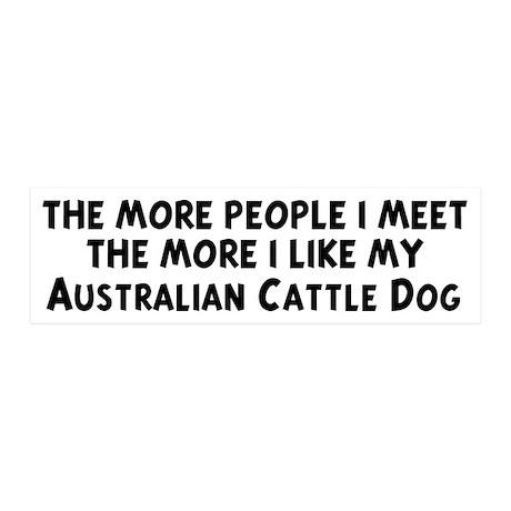 Australian Cattle Dog: people 20x6 Wall Peel