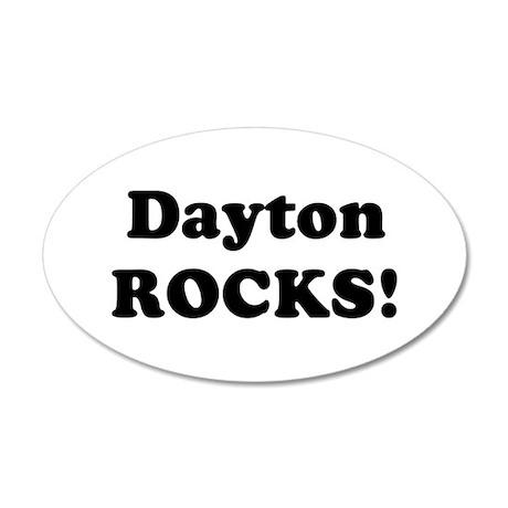 Dayton Rocks! 20x12 Oval Wall Peel