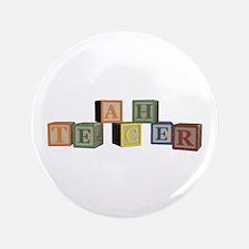 """Teacher Alphabet Block 3.5"""" Button"""