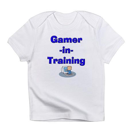 Gamer-in-Training (Blue) Onesie/Creeper Infant T-S