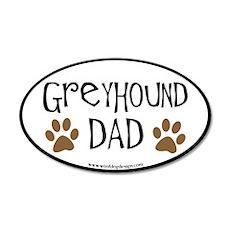 Greyhound Dad Oval (black border) Wall Decal