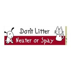 Don't Litter Neuter or Spay 36x11 Wall Peel