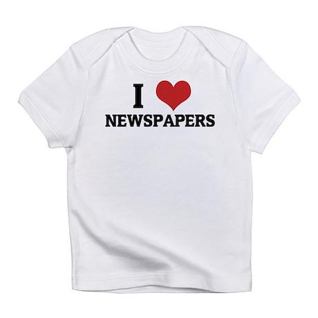 I Love Newspapers Creeper Infant T-Shirt