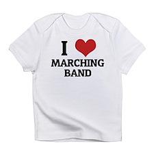 I Love Marching Band Creeper Infant T-Shirt