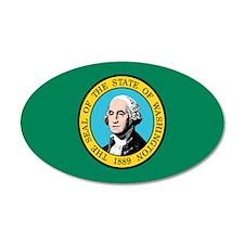Washington State Flag 20x12 Oval Wall Peel