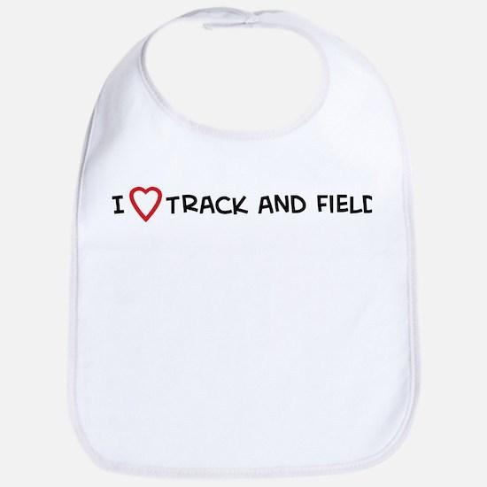 I Love Track and Field Bib