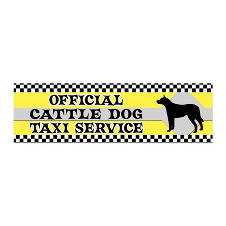 Official Cattle DogTaxi 20x6 Wall Peel