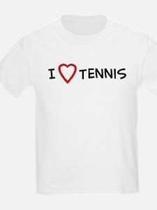 I Love Tennis Kids T-Shirt