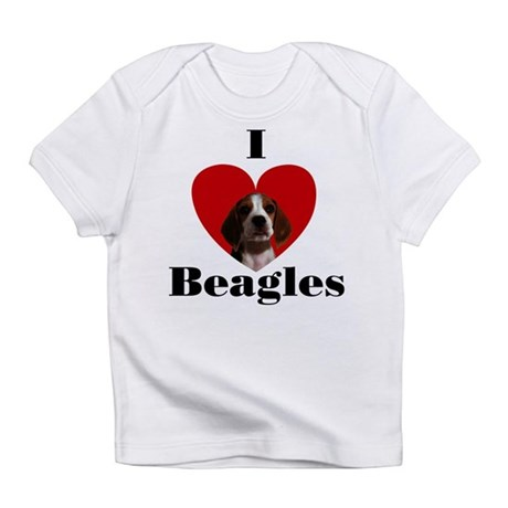 I Love Beagles Infant T-Shirt