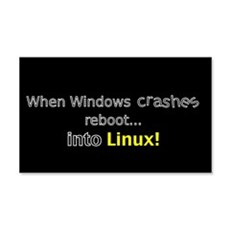 Reboot to Linux 20x12 Wall Peel