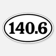 140.6 Triathlon Oval Sticker (Oval)