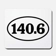 140.6 Triathlon Oval Mousepad