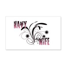 Navy Wife Flower 20x12 Wall Peel