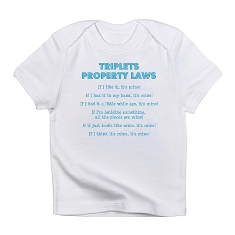 Triplet Property Laws Infant T-Shirt