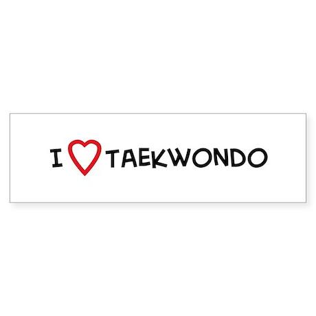 I Love Taekwondo Bumper Sticker
