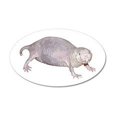 Naked Mole Rat 2 20x12 Oval Wall Peel