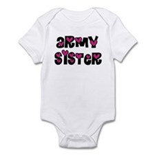 Army Sister Pink Hearts Infant Creeper