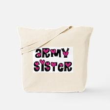 Army Sister Pink Hearts Tote Bag