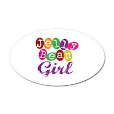 Jelly Bean Girl 20x12 Oval Wall Peel