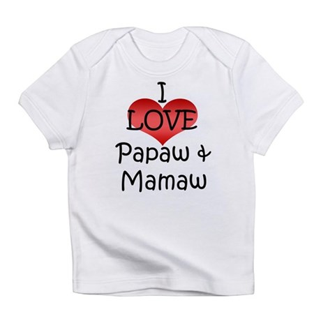 I Love Papaw & Mamaw Creeper Infant T-Shirt