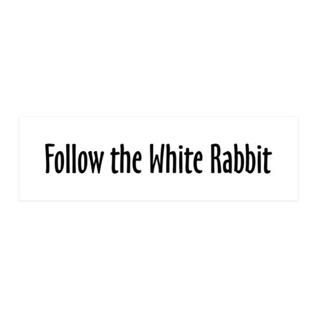 Follow the White Rabbit 20x6 Wall Peel