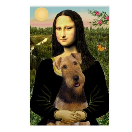 Mona Lisa & Airedale Postcards (Package of 8)