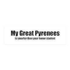 My Great Pyrenees is smarter 36x11 Wall Peel