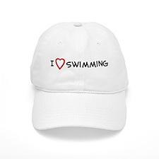 I Love Swimming Baseball Cap