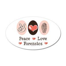 Peace Love Forensics 20x12 Oval Wall Peel
