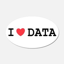 I Heart Data 20x12 Oval Wall Peel