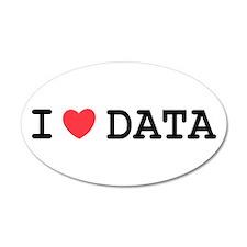 I Heart Data 35x21 Oval Wall Peel