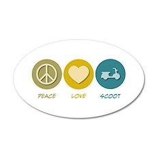 Peace Love Scoot 20x12 Oval Wall Peel