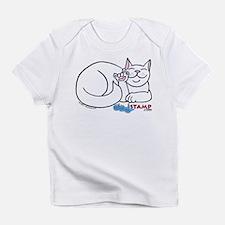 White ASL Kitty Creeper Infant T-Shirt