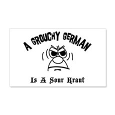 Grouchy German 20x12 Wall Peel