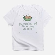 Cousins two peas in a pod Baby Infant T-Shirt