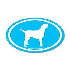labrador retriever oval (wh/blue) 35x21 Oval Wall