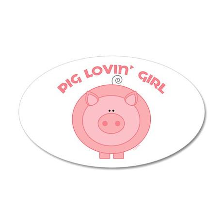 Pig girl 20x12 Oval Wall Peel