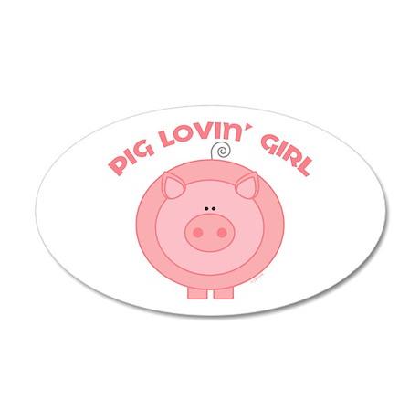Pig girl 35x21 Oval Wall Peel