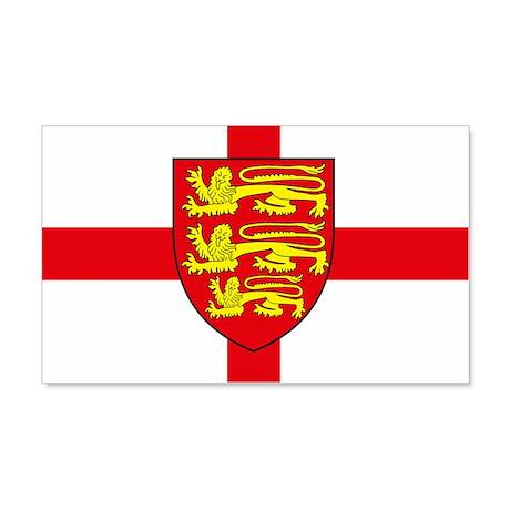 England Sticker w/ Coat of Arms (Rectangular)