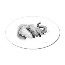 Lucky Elephant ~ 20x12 Oval Wall Peel