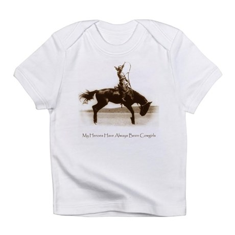 Cowgirl Hero antiqued image Creeper Infant T-Shirt