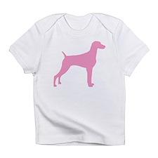 Pink Weimaraner Infant T-Shirt